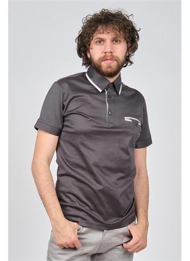 Arslanlı Arslanlı Erkek Cep Detaylı Polo Yaka T-Shirt  Füme